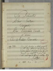 Carulli Manuskript - Six Andante