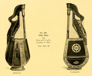 Dital Harp by Edward Light, London ca. 1825
