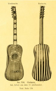 Guitar, Italian work from the 17th century