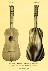 Small guitar (chitarrino) by Matteo Sellas, Venice ca. 1630