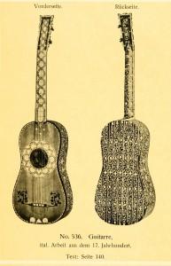 Guitar, Italian work, 17th century