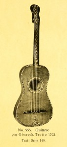 Guitar by Gioacch. Trotto 1792