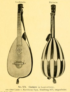 Guitar in lute-shape, made from a lute by Mattheus Epp, Straßburg 1671
