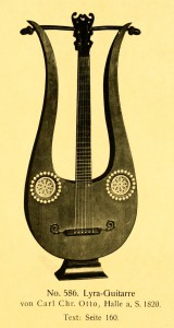 Lyra-guitar by Carl Chr. Otto, Halle a. S. 1820