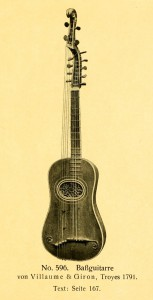 Bassguitar by Villaume & Giron, Troyes 1791