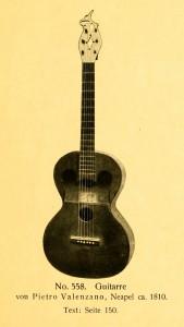 Guitar by Pietro Valenzana, Naples, ca. 1810