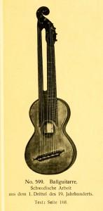 Bassguitar, Swedish, firts third of 19th century
