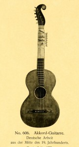 Chord-guitar, German work, middle of 19th century