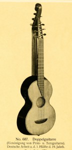 Double-Guitar (prim- and terz-guitar), German work from first half of the 19th century