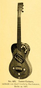 Guitar with keys, maybe by Karl Ludwig Bachmann, Berlin, ca. 1805