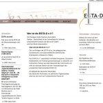 Website der EGTA Deutschland